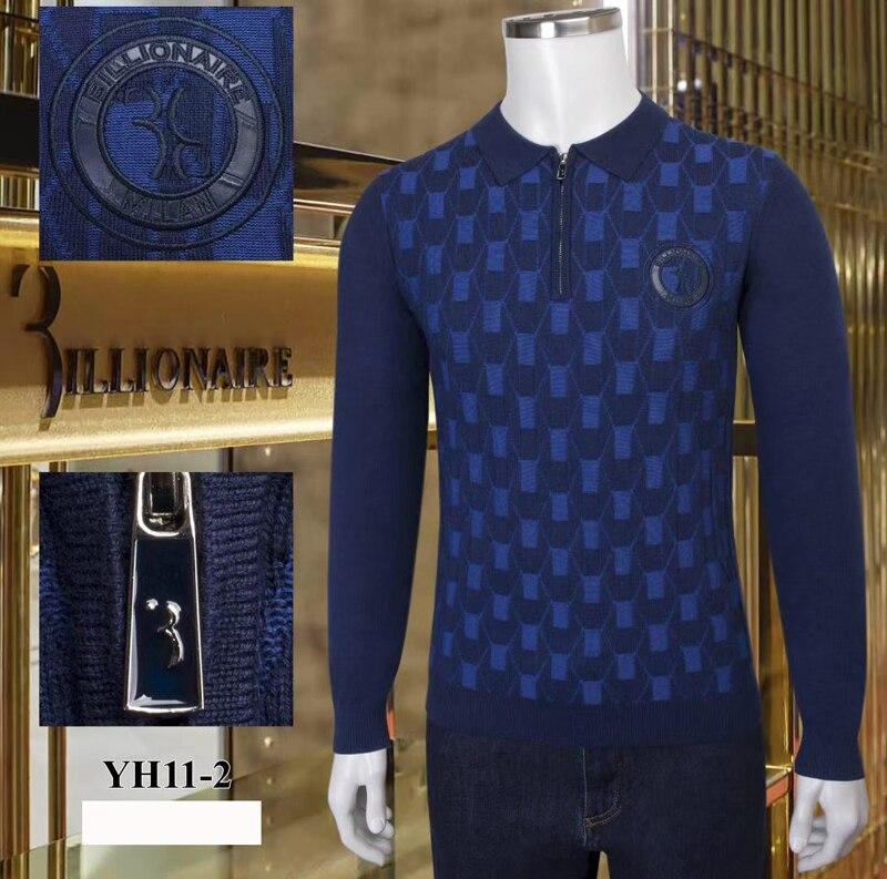Billionaire Sweater Cashmere men's 2020 new warm Business Casual Europe Zipper high quality Comfortable big size M-4XL