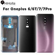 Nowa tylna pokrywa Oneplus 6 6T 7 Pro tylna bateria szklane etui drzwi One Plus 6 tylna obudowa szklana obudowa Oneplus 7 pokrywa baterii