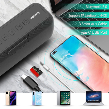 XDOBO X8 60W Portable bluetooth speakers with subwoofer wireless IPX5 Waterproof TWS 15H playing time Voice Assistant Extra bass 4