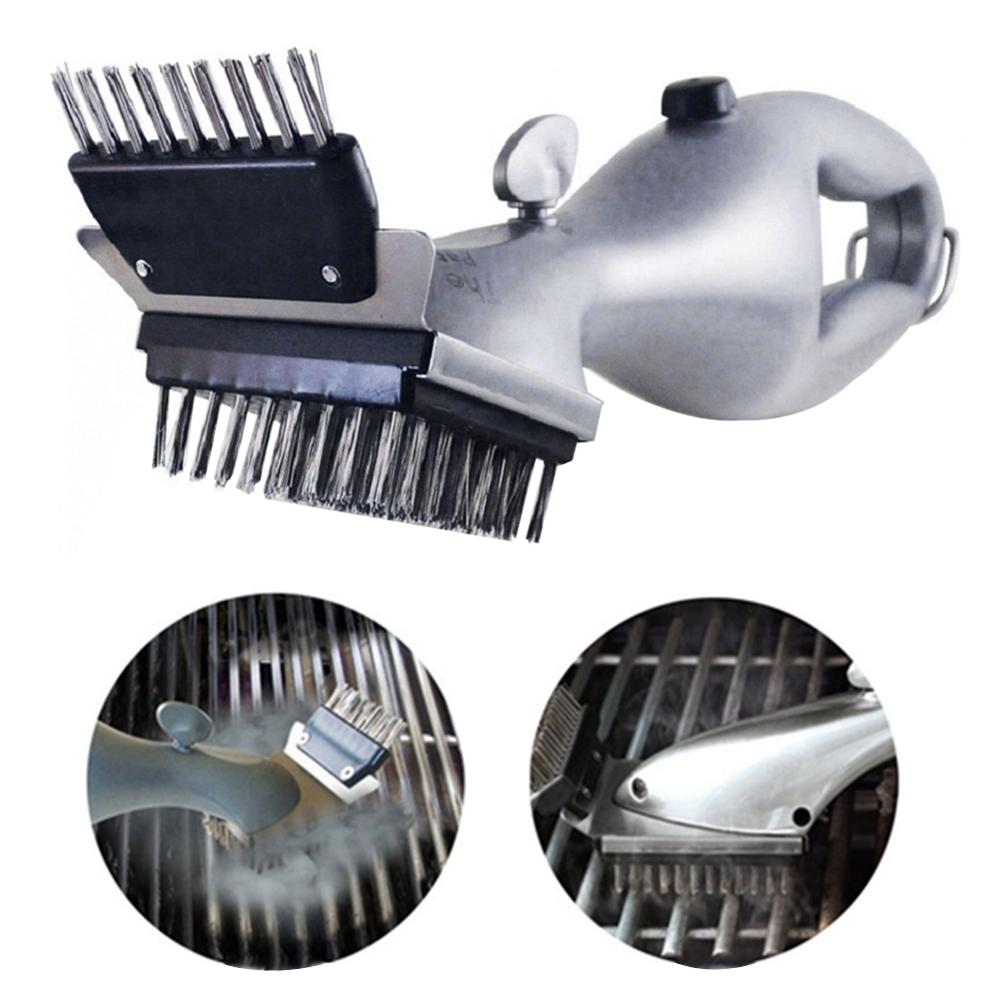 Barbecue Cleaning Brush Stainless Steel Churrasco Grill Cleaner With Power Of Steam BBQ Accessories Camping Cook Outdoor Tools