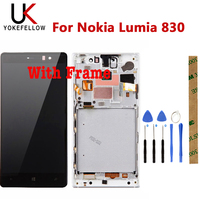100% Tested LCD Display For Nokia Lumia 830 LCD Display With Touch Screen Sensor Complete Assembly With Frame|Mobile Phone LCD Screens| |  -