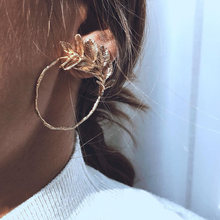 Boucles d'oreilles Vintage pour femmes, bijoux de créateur, romantique, mode française, boucle irrégulière, feuille texturée, or, 2021