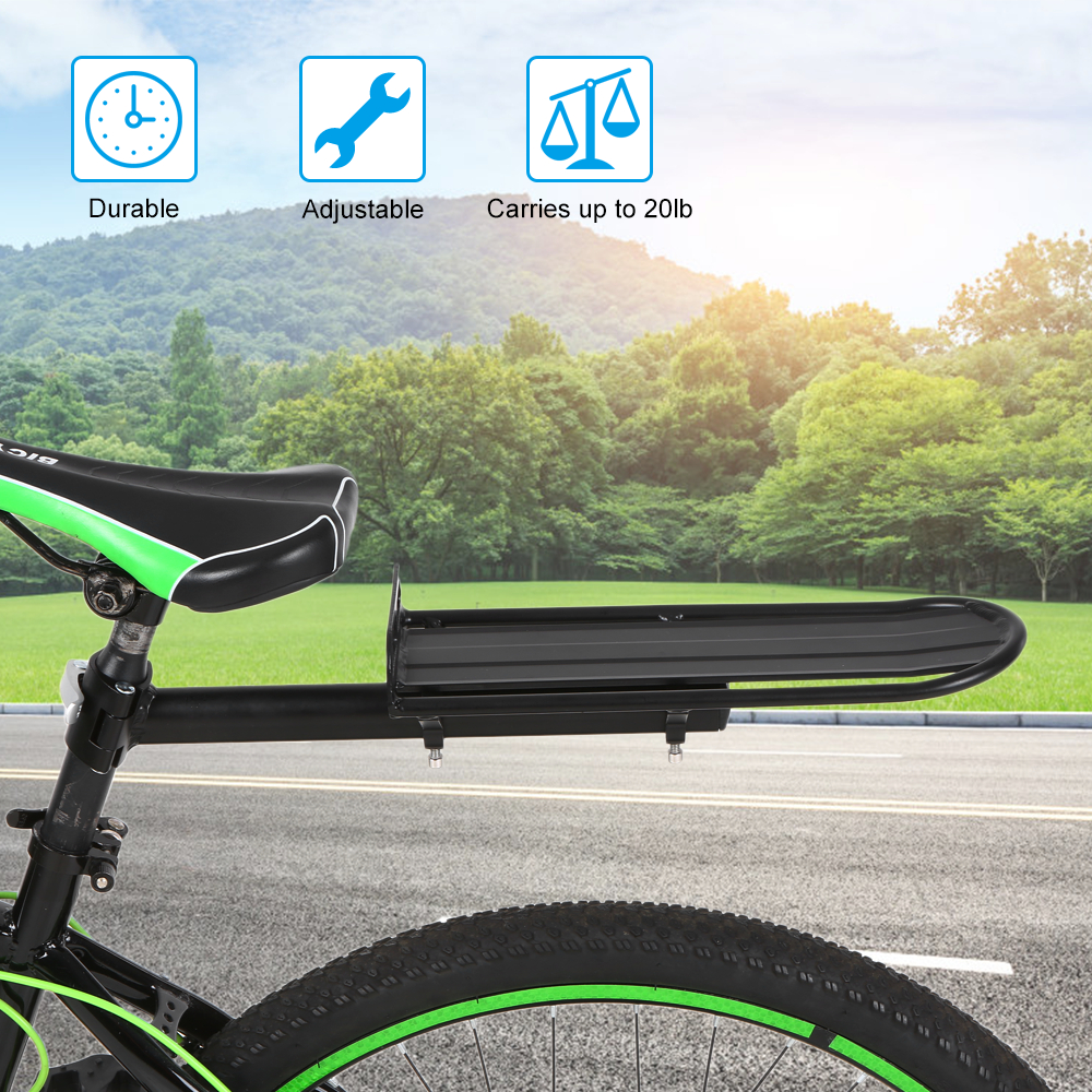 Adjustable Bicycle Cargo Rack Aluminum Alloy Seat Post Rear Bike Carrier
