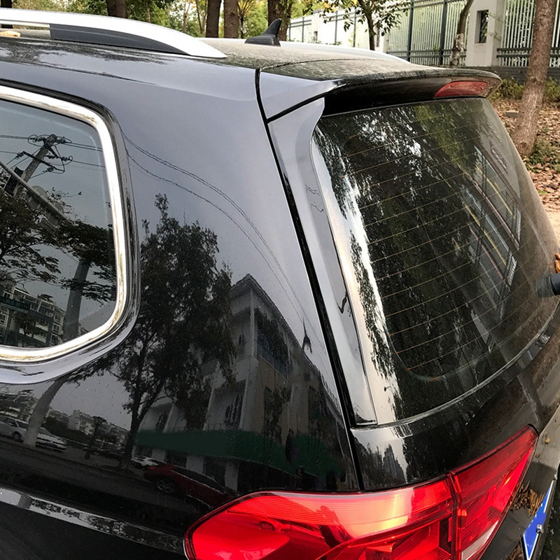 2Pcs Car Plastic Rear Window Side Spoiler Wing Lip Cover Trim Sticker Fit For VW Sharan 2011 2012 2013 2014 2015 2016 17 Color : Black RuiPingRuiLaias Car Tail Wing Auto parts
