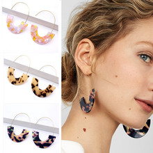 Fashion Big Acetic Acid Drop Earrings For Women 2019 Resin Large Square Earrings Trendy Geometric Acrylic Jewelry Accessories(China)