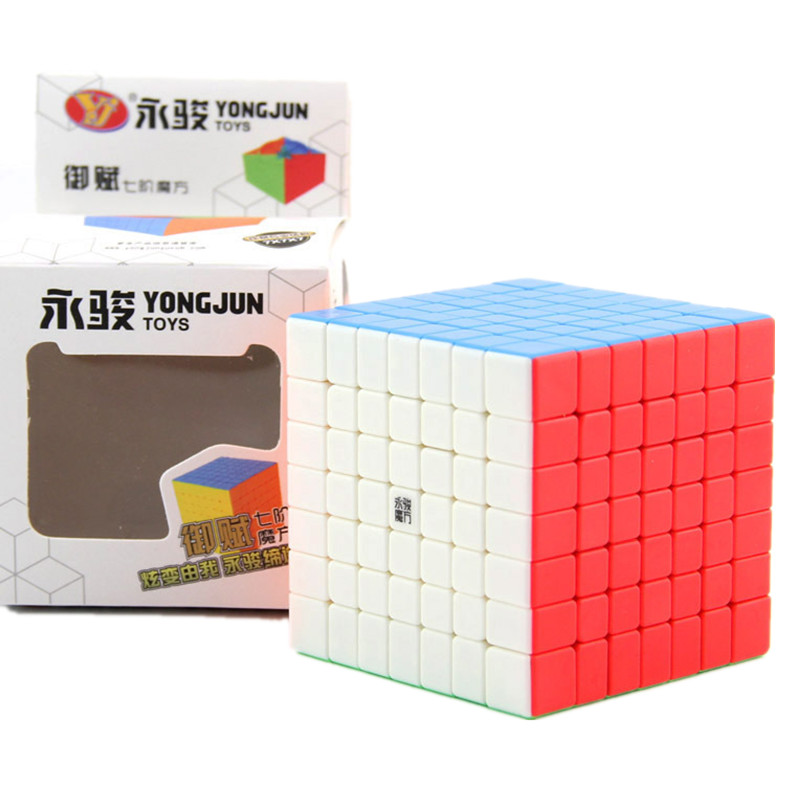 YJ 7x7 Magic Cube 69.5mm Yufu 7x7x7 Magic Cube 7Layers Speed Cube Professional Cubo Magico Puzzle Toy For Children Kids Gift