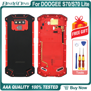 Image 3 - New Battery Case Protective Battery Case Back Cover+Power Volume Cable+Fingerprint Cable+Camera Glass For Doogee S70/S70 Lite