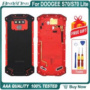 Image 3 - Nieuwe Batterij Case Beschermende Batterij Case Back Cover + Power Volume Kabel + Vingerafdruk Kabel + Camera Glas Voor Doogee s70/S70 Lite