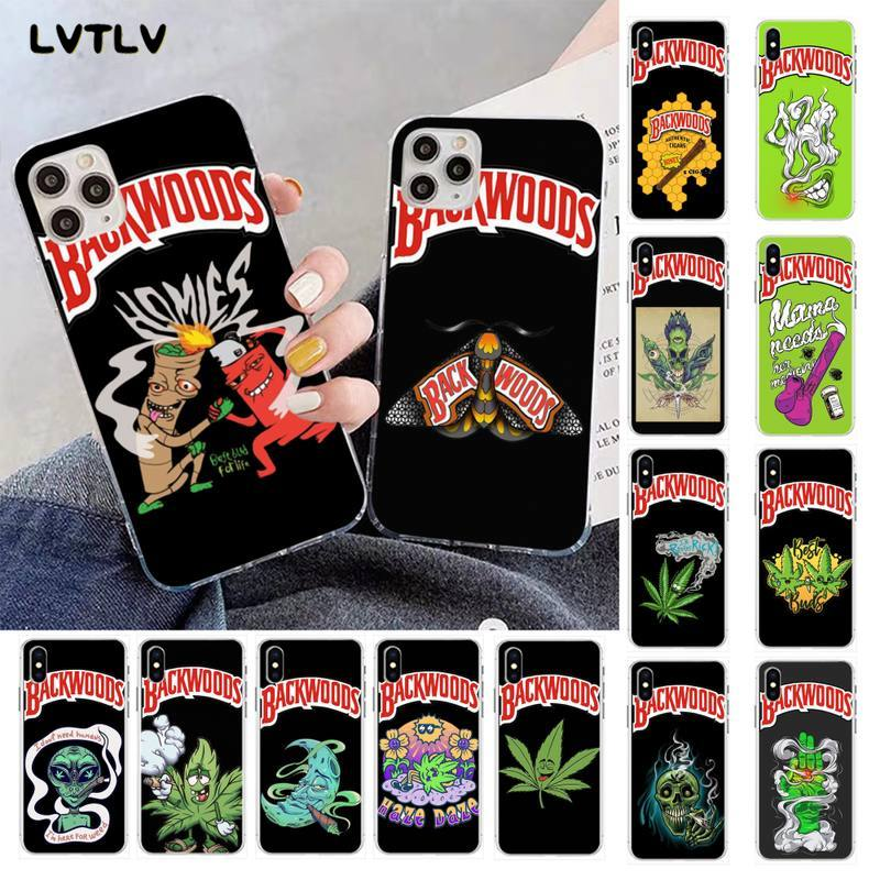 LVTLV cartoon weed smoking backwoods DIY Printing Phone Case cover Shell for iPhone 11 pro XS MAX 8 7 6 6S Plus X 5S SE 2020 XR