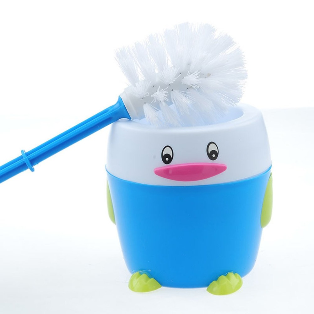 Bathroom Toilet Brush With Penguin Base Strong Supplies Household Cleaning Products Plastic Brush Dirty Hand Hygiene Tools New