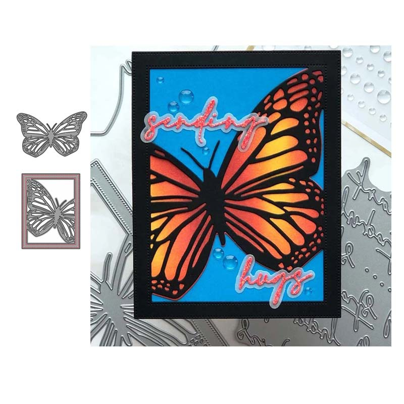 Butterfly Frame Metal Cutting Dies Diy Scrapbooking Album Card Making Paper Crafts image