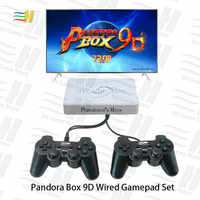 Pandora Box 9d mit doppel Verdrahtete Gamepad Wireless Joypad Set 2500 in 1 arcade video spiel unterstützung 3d tekken mortal kombat pacman