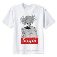 Boku No Hero Academia T Shirt mężczyźni lato wysokiej jakości Anime My Hero Academia koszulka Casual biały nadruk męski Top Tees