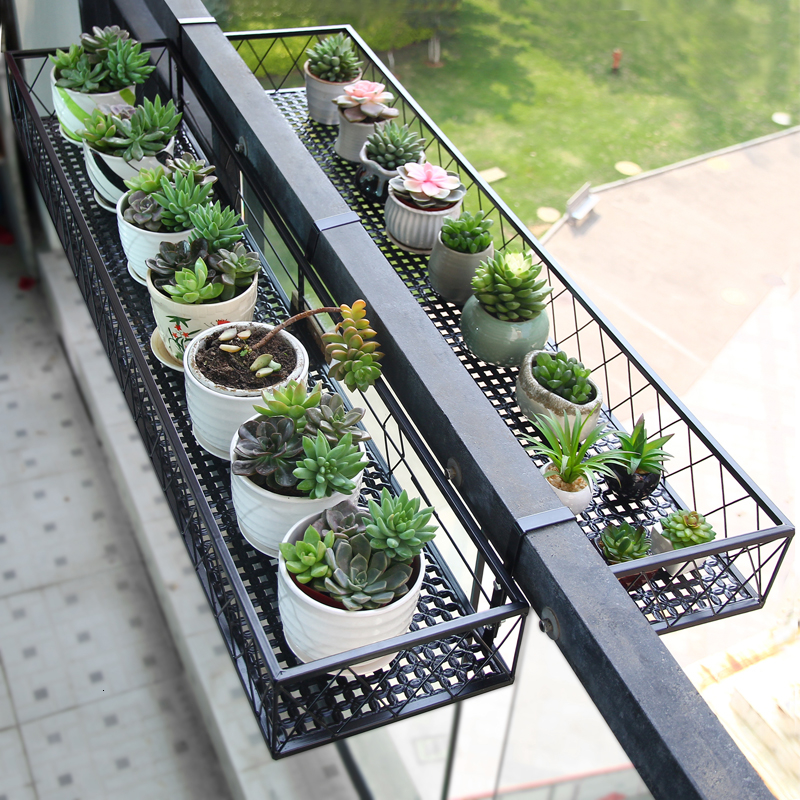 Rack Suspension Flower Rack Balcony Hanging Type Flowerpot Frame Grow Vegetables Wall Hanging Potted Plant Meaty Flower Airs