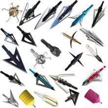 Uds cabezas anchas 100gn-125gn flechas consejos cabezas de flecha para el tiro con arco caza para arco compuesto ballestas y el retroceso de la flecha