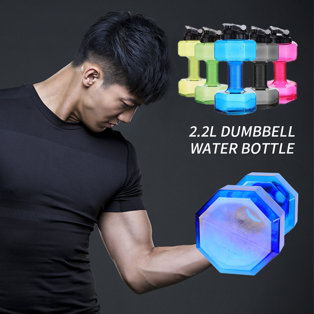 Dumbbells Plastic Big Large Capacity Gym Sports Water Outdoor Fitness Bicycle Bike Camping Cycling Bottle Fitness For Men