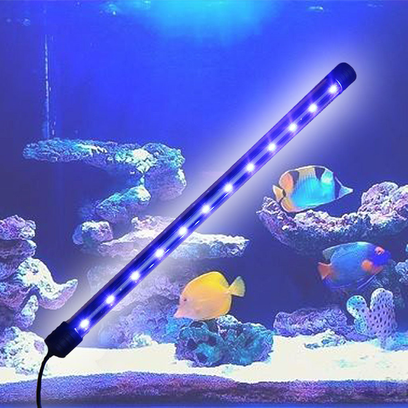 Acuario pecera luz LED sumergible barra impermeable tira lámpara UE enchufe nuevo 24 LEDs discoteca UV Bar luces fiesta Dj lámpara UV Color Wash LED de pared luces para Navidad láser proyector etapa pared luces