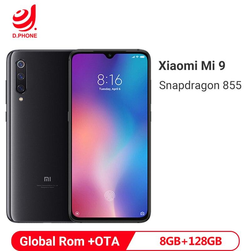 ROM globale Xiao mi mi 9 mi 9 8 GB RAM 128 GB ROM Snapdragon 855 Octa Core 6.39 AMOLED Display 48MP Triple caméras Smartphone