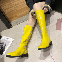 2019 New Fashion Over The Knee Boots Women Blue Fall Boots Women Green Yellow Boots White Boots Women Platform Black Boots(China)