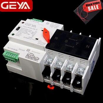 Gratis Verzending GEYA W2R Mini ATS 4P Automatische Omschakeling Controller Elektrische Type ATS Max 100A 4POLE