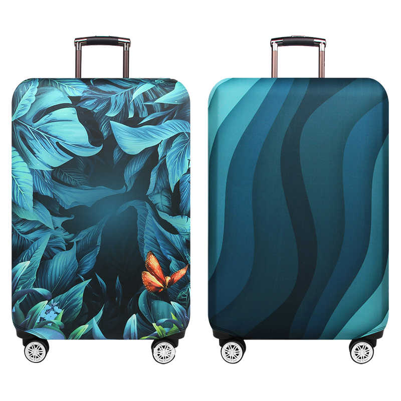 SCOCICI Cute Flowers Spiral Leaves Heart Figures Lovers Romantic Girls Ornate Design Luggage Case Protective Baggage Suitcase Cover for 19-32 Luggage