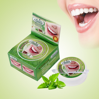 Herb Natural Herbal tajlandia pasta do zębów pasta do zębów wybielanie zębów usuń plamę antybakteryjny pasta alergiczna do zębów tanie i dobre opinie TackOre RASYAN Remove Stain Toothpaste Małe 1510200682 Teeth Whitening Allergic Toothpaste Gum care Herb flavor 25g or 10g