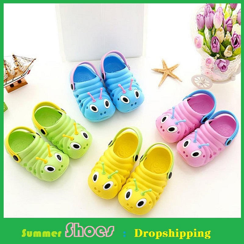 0-5Y Hole Sandals For Kids Shoes Baby Boys Girls Garden Slippers Cute Cartoon Shoe Anti-slip Light Beach Children's Shoes Summer