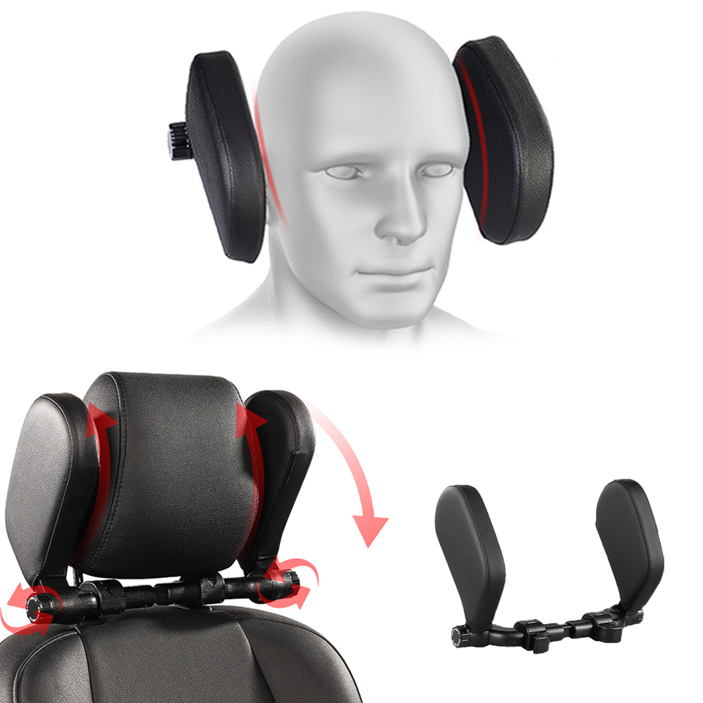 Car Seat Headrest Comfort Memory Foam Pad Car Seat Neck Pillow Sleep Side Head Support On Sides Cervical Spine For Adults Child 1