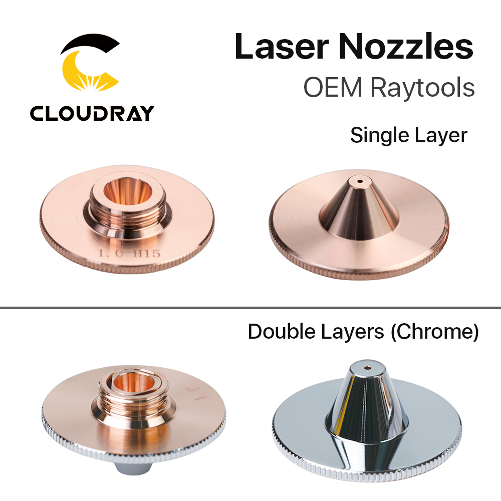 Cloudray Raytools C Type TQ Nozzles Dia.32 H15 Single Layer Chrome-Plated Double Layers Caliber 0.8-5.0mm For Cutting Head