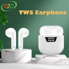 PJD TWS bezprzewodowe słuchawki Bluetooth z mikrofonem BT5.1 redukcja szumów słuchawki douszne sportowe dla smartfonów Xiaomi