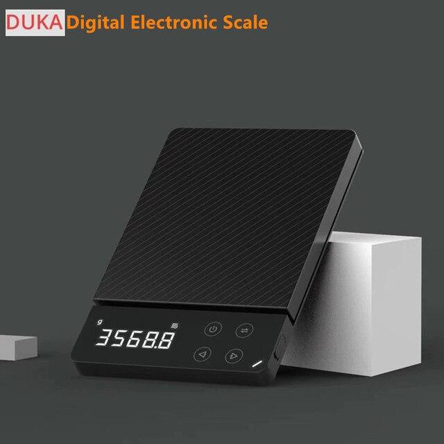 متوفر ATuMan DUKA ES1 0 3 كجم/8 كجم المنزلية LCD ميزان إلكتروني رقمي متعدد الوظائف HD الخلفية موازين الطعام الإلكترونية