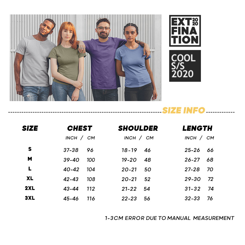 ┌Free ShipExtfination T-Shirts Heavyweight White Tops Cotton Casual Tee Classical Male 100%Combed╘