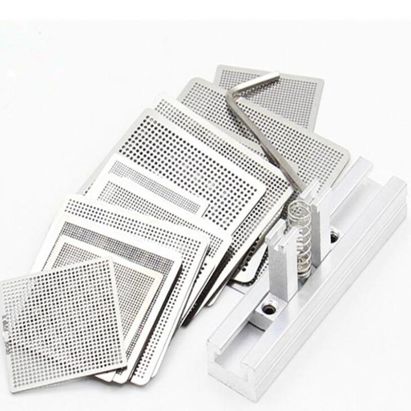 Универсальная прямая подставка BGA нагревательный трафарет reballing, держатель трафарета, зажим с подогревом для SMT SMD реболлинг чипов