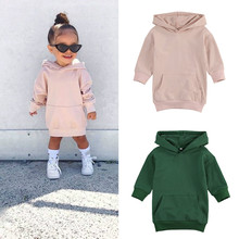 Outfits Dress Pullover Pocket Girls Hoodies Long-Sleeve FOCUSNORM Kids Fashion Autumn
