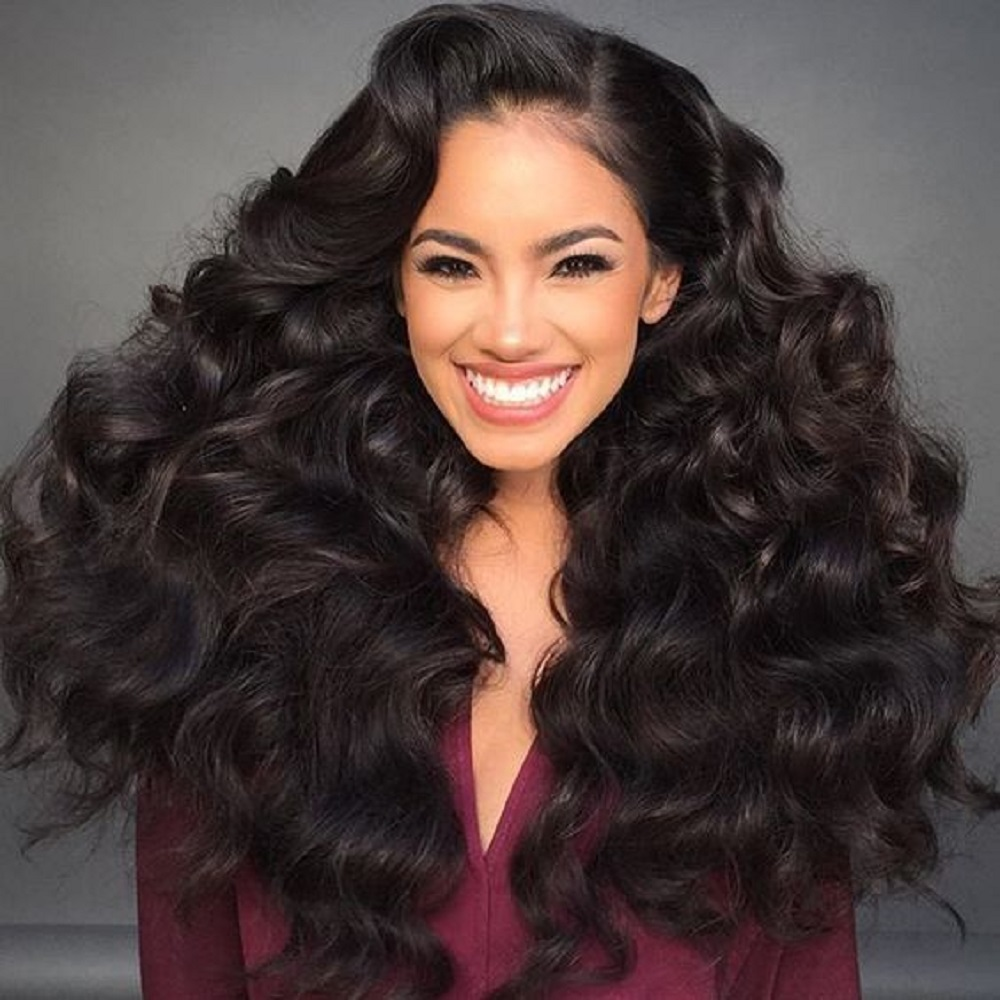 Lace Closure Human Hair Wigs 4*4 BEAUDIVA Brazilian Loose Wave100% Human Hair Wig Lace Wigs With Baby Hair For Black Woman