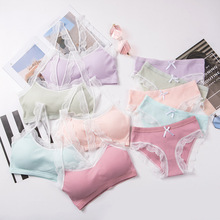 Bra Lingeries Bra-Set Underwear Lace Cotton NEW for Girls Teens Soft Kids Training