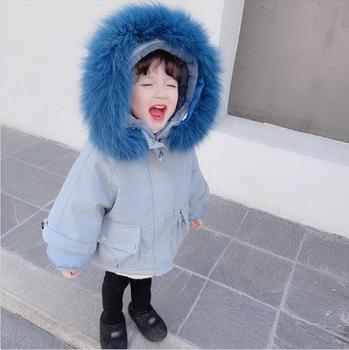 Girl's down jacket cotton jacket winter children's cotton jacket baby girl foreign style cotton jacket thick coat pie overcome