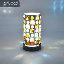 Artpad прикроватный светодиодный настольный светильник с металлическим