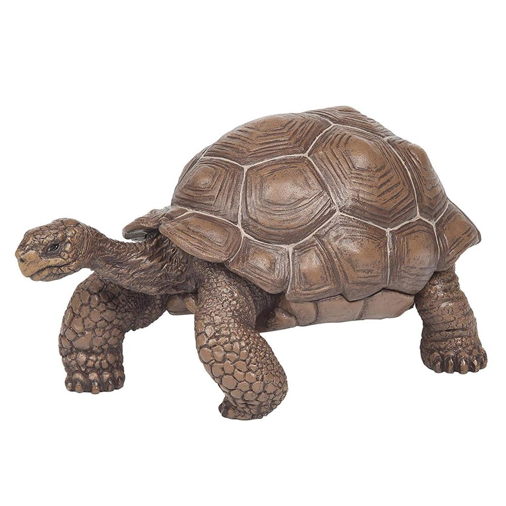3inch Galapagos Tortoise Turtle Model Figure Animal Toy Desktop Decoration Collectable Gift Realistic Bionic Turtle Model