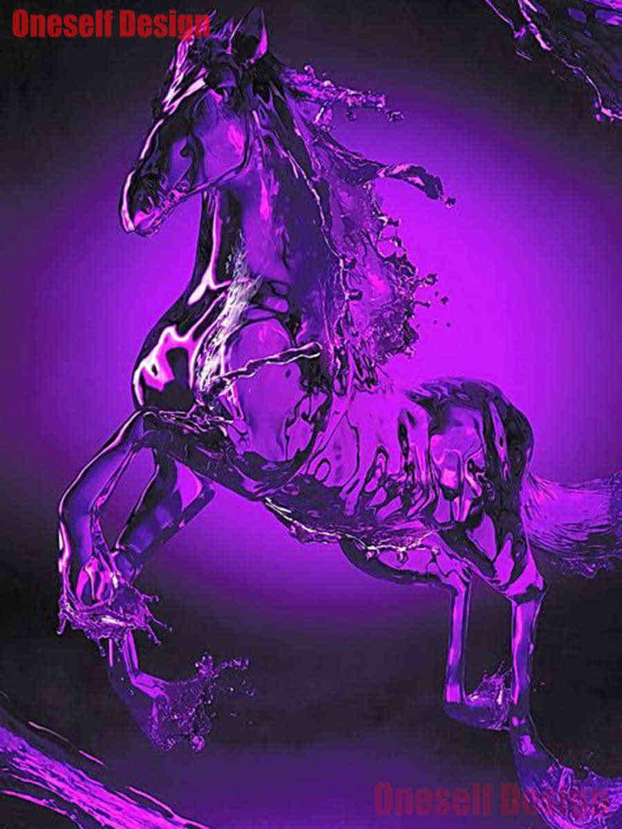 5d เพชรเย็บปักถักร้อยชุดม้า 5d เพชรจิตรกรรมสัตว์ magic horse diy ภาพวาดเพชรเต็มรูปแบบ/รอบที่ดีที่สุดของขวัญ