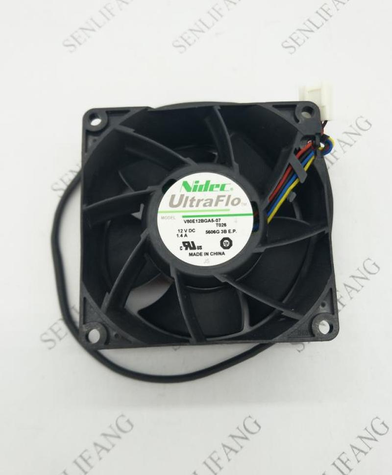 Original For Nidec 8038 V80E12BGA5-07 12V 1.4A Intelligent Cooling Fan