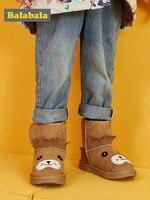 Balabala Girls short boots children's snow boots boys 2019 winter new boots baby warm children's shoes