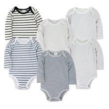 3 6 шт/партия Одежда для новорожденных 100% хлопок весенний