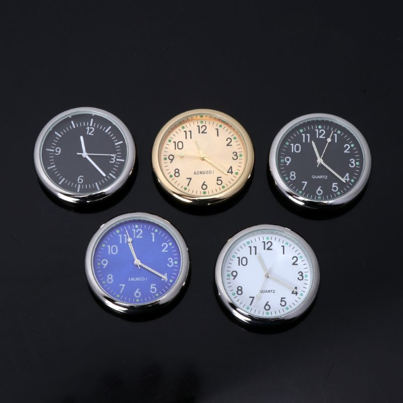Universal Car Clock Stick-On Electronic Watch Dashboard Noctilucent Decoration For SUV Cars Steel Casing, Sapphire Glass,