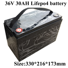 36V 30Ah LiFepo4 batterie pour fauteuil roulant Scooter électrique énergie solaire Sotrage moto électrique SLA remplacement + 5A Charge