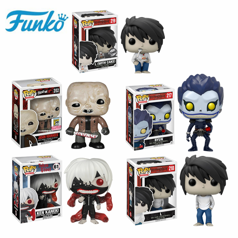 Funko POP Friday the 13th JASON Death Note L · Lawliet Ryuk Tokyo Ghoul Ken Collectible Model Action Figure Speelgoed verjaardagscadeau