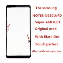 الأصلي AMOLED LCD لسامسونج غالاكسي عرض نوت 8 LCD N950U N950A N950F شاشة تعمل باللمس محول الأرقام الجمعية مع نقطة سوداء