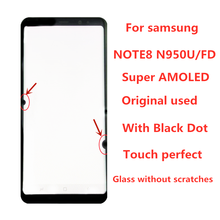 ORIGINAL  AMOLED  LCD  for SAMSUNG Galaxy Display NOTE8 LCD N950U N950A N950F Touch Screen Digitizer Assembly With Black Dot