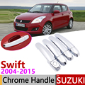 Для Suzuki Swift Maruti DZire 2004 ~ 2015 хромированные дверные ручки крышки наклейки на автомобиль отделка Набор 2005 2007 2009 2011 2013 2014