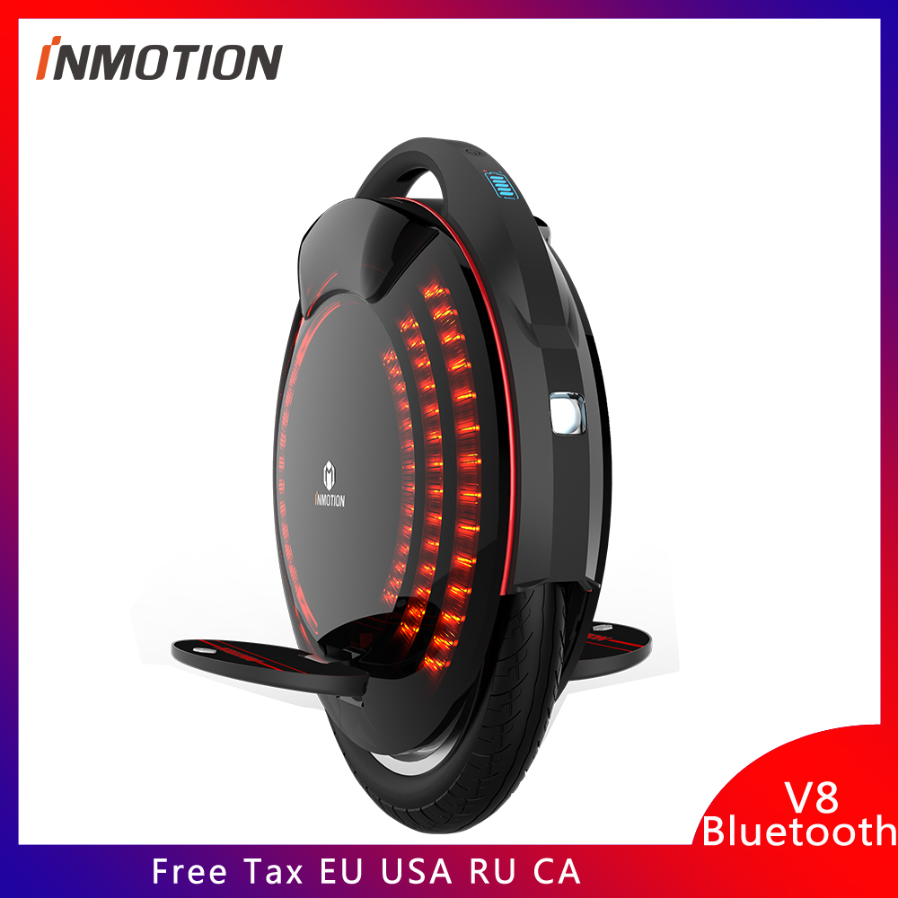 Inmotion V8 Electric unicycle one wheel scooter 50KM Max speed 30KM/H Original Monowheel One Wheel Electric Skateboard Self